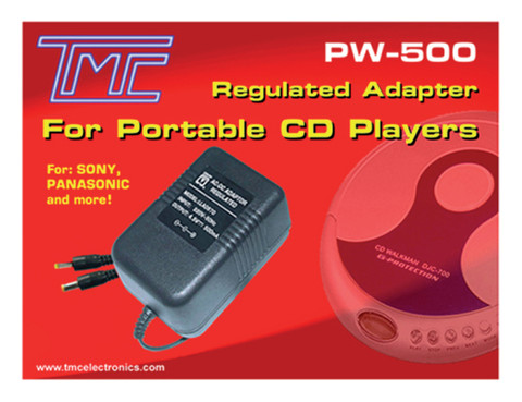 4.5V Regulated AC/DC Adapter, 500mA  PW-500