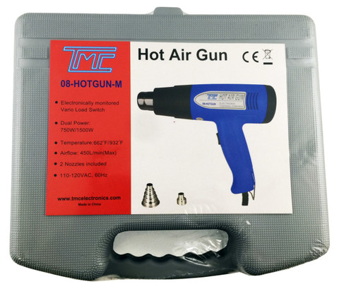 Hot Air Gun 750/1500W, Carrying Case  08-HOTGUN-M