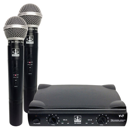 Dual Wireless VHF+Plus Microphone System  MC-2020W