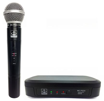 Single Wireless VHF+Plus Microphone System  MC-PG24