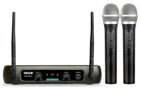 Dual Wireless VHF Microphone System  VWS-20 PLUS