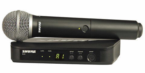 SHURE Wireless UHF Microphone System  BLX24/PG58