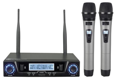 Dual Wireless UHF Microphone System  MC-702ULR