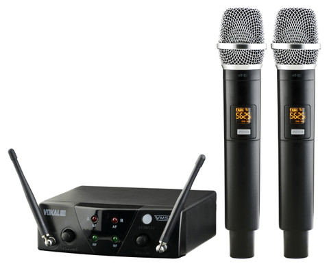 Dual Wireless 10-Channel UHF Microphone System  VSM-12