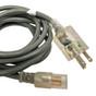16AWG, NEMA 5-15P, AC Power Cord, 8FT, UL, Hospital Grade  AC-553-HOSP