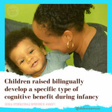 Children raised bilingually are more adept at learning.