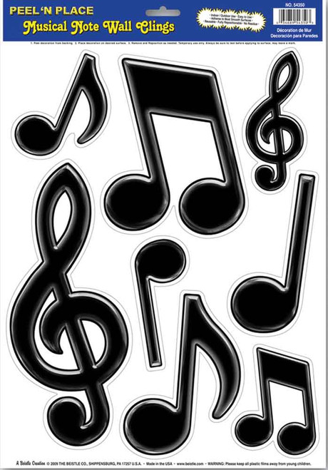 Black Music Symbols, Peel & Stick