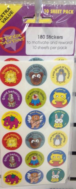 Sticker Behaviour 10 sheet pk