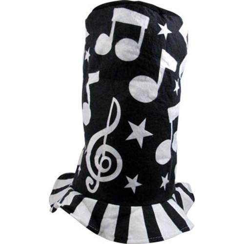Felt Hat Music Notes Black & White