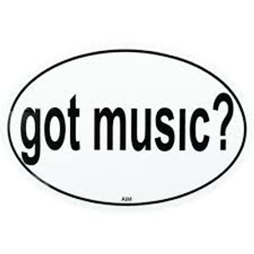 Sticker Oval Got Music