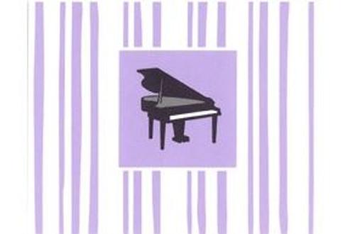 Cards Plain Petite Piano 8Pk
