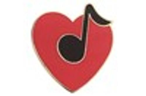 Mini Pin Heart w Note