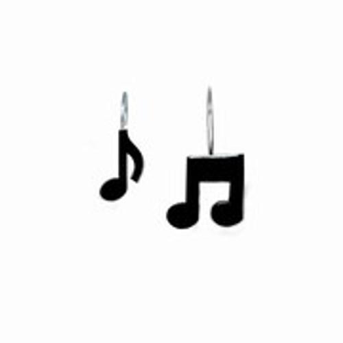 Shower Curtain Hooks/Black Musical Note