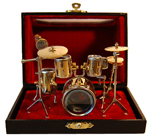 Miniature Drum Replica  Set w/Case