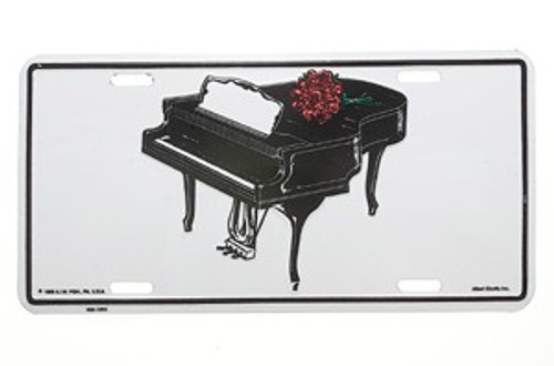 License Plate Grand Piano