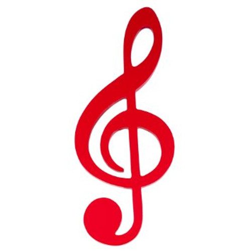 Wall Decoration Red G-Clef