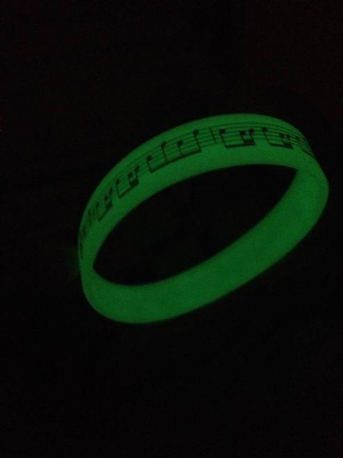 Bracelet -Pack of 12 - Glow in the Dark Music Score Bracelet