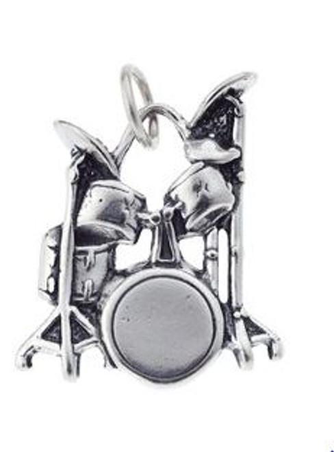 Charm/Pendant Sterling Silver Drum Set