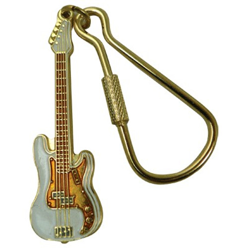 Keychain Electric Bass White