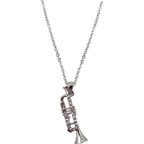 Necklace Trumpet Silver/Crystals