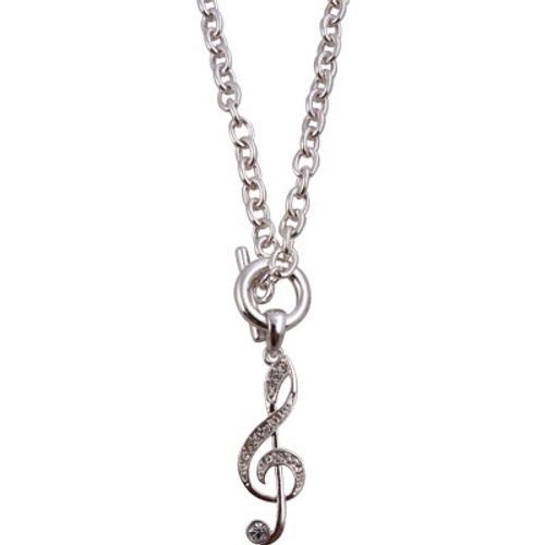 Necklace Toggle G-Clef Silver