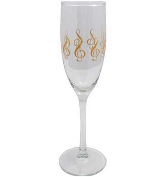Champagne G-Clef Glass (Pair)
