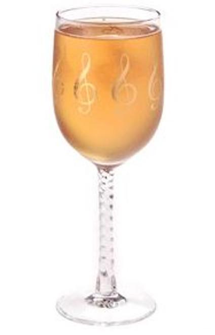 Glass Wine Goblet G-Clef