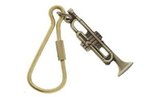 Keychain Trumpet Polished Brass