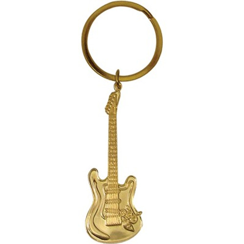 Keychain E-Guitar Gold