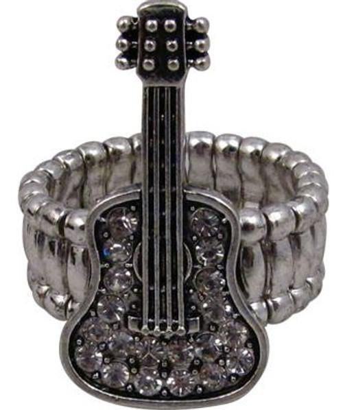 Ring Stretch Crystal Guitar