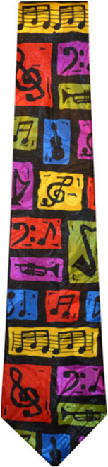 Tie Colorful Music Notes with Instruments