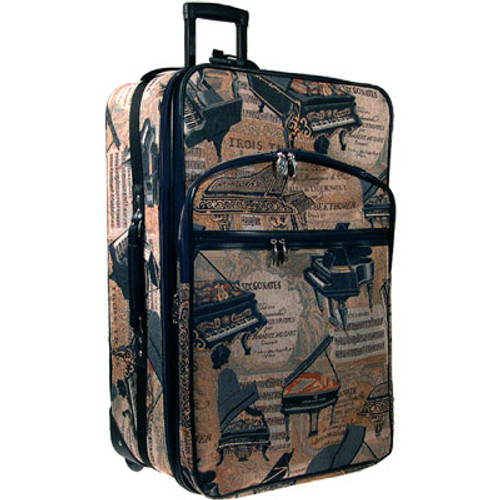 """Suitcase Piano Tapestry 24"""" Expandable"""