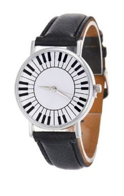 Montre Leather Watch Keyboard