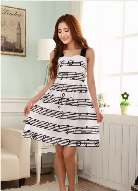Sheet Music Black Strap A-Line Dress- Small, Medium Large