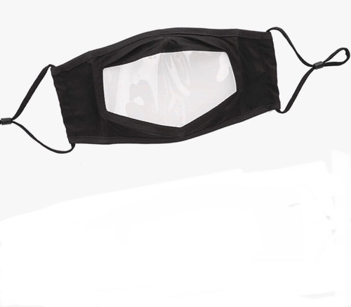 Kids Face Mask - Cotton with Clear Window