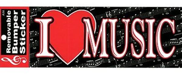 Bumper Sticker I Heart Music