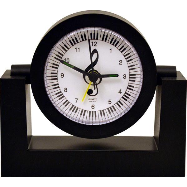 Alarm Clock Keyboard/Clef Black