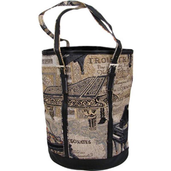 Ladies Handbag Piano Tapestry -Bucket style