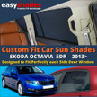 Skoda Octavia Car Sun Shades from easyshades give great UV Protection with Window Shades and are more convenient than Privacy Glass. Styling Accessories are available from £29.95 inc Vat Order Online