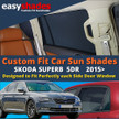 Skoda Superb Car Sun Shades from easyshades give great UV Protection with Window Shades and are more convenient than Privacy Glass. Styling Accessories are available from £29.95 inc Vat Order Online