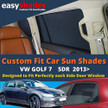 VW Golf 7 Car Sun Shades from easyshades give great UV Protection with Window Shades and are more convenient than Privacy Glass. Styling Accessories are available from £29.95 inc Vat Order Online