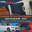 Easyshades car sun shades for Audi Q4 Saloon fit the side Door windows  giving great UV Protection and protecting your Kids, Bay, Pets from sunburn.