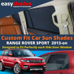 Our Range Rover Sport  Car Sunshades perfectly fit the rear passenger door windows giving great UV protection and shade to your kids bay and pets.