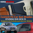 Easyshades car sun shades for Hyundai IX35 fit the side Door windows  giving great UV Protection and protecting your Kids, Bay, Pets from sunburn.