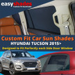 Easyshades car sun shades for Hyundai Tucson fit the side Door windows  giving great UV Protection and protecting your Kids, Bay, Pets from sunburn.