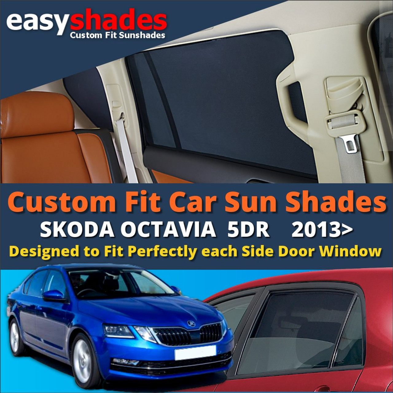 Seat Leon ST Estate 12/> CAR SHADES UK TAILORED UV SIDE WINDOW SUN BLINDS PRIVACY