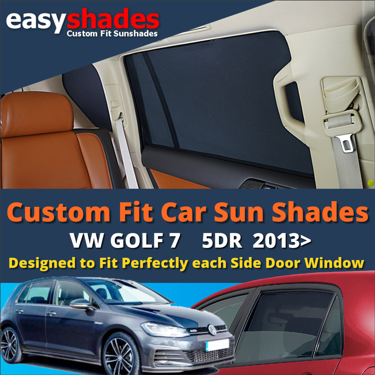 Car Rear Window UV Sun Shade Blind Kids Baby Sunshade For Passat Tiguan