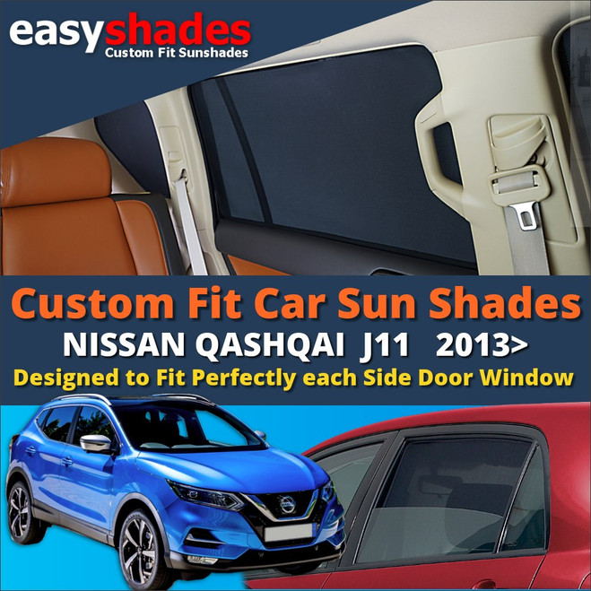 Nissan Qashqai car sun shades and window blinds from easyshades.co.uk