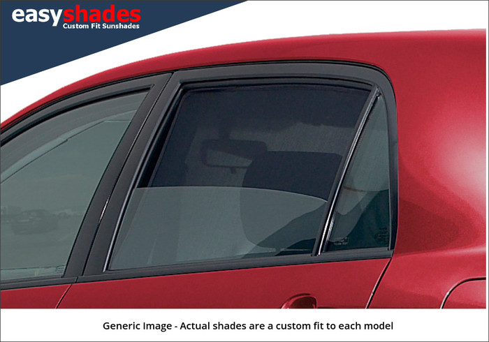From the outside our Easyshades offer more privacy than standard glass. with our Velcro Super Advance fitting system the windows can be lowered whilst travelling allowing UV protection from the sun' glare but also good ventilation.