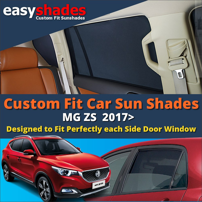 Our MG ZS Car Sunshades perfectly fit the rear passenger door windows giving great UV protection and shade to your kids bay and pets.